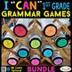 1st Grade Language Arts BUNDLE | Spiral Review, Games & Quizzes | ENTIRE YEAR
