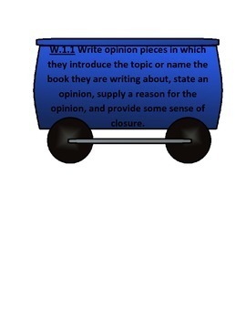 1st Grade Language Arts Common Core I Can Writing Statement Train B2S