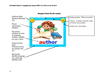 1st Grade Language Arts Power Pix