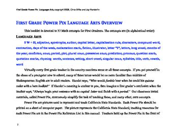 1st Grade Language Arts Power Pix
