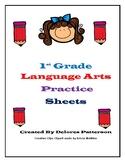 1st Grade Language Arts Practice Sheets (Common Core Aligned)