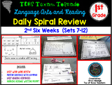 1st Grade Language Arts & Reading Daily Spiral Review: 2nd Six Weeks- TEKS Based