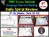 1st Grade Language Arts & Reading Daily Spiral Review: 5th