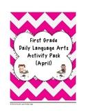 1st Grade Language Arts Worksheet Pack (April) {Common Core Aligned}