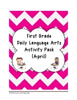 1st Grade Language Arts Worksheet Pack (April) {Common Core Aligned}