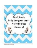 1st Grade Language Arts Worksheet Pack (January) {Common Core Aligned}
