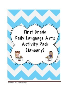 1st Grade Language Arts Worksheet Pack (January) {Common Core Aligned}