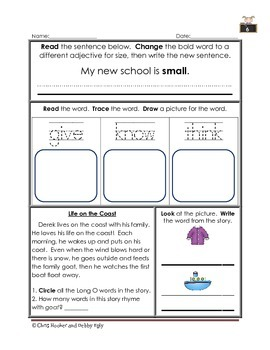 1st Grade Language Arts Worksheet Pack (March) {Common Core Aligned}