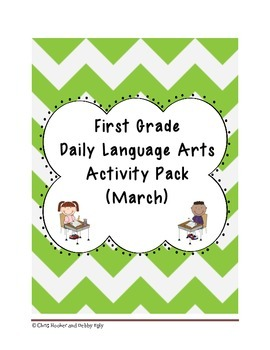 1st Grade Language Arts Worksheet Pack (March) {Common Cor
