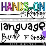 1st Grade Language Arts and Grammar BUNDLE {Hands-on Reading}