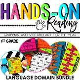 1st Grade Language Arts and Grammar BUNDLE {Hands-on Reading}