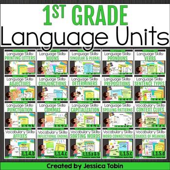 1st Grade Language Domain GROWING Bundle