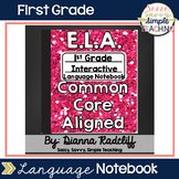 1st Grade Language Interactive Notebook {CCSS Aligned}