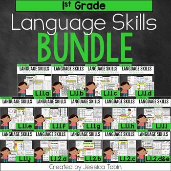 1st Grade Language Skills Bundle, Language: Conventions of Standard English