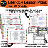 1st Grade Literacy Lesson Plans
