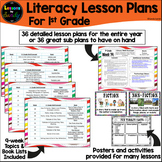 1st Grade Literacy Lesson Plans