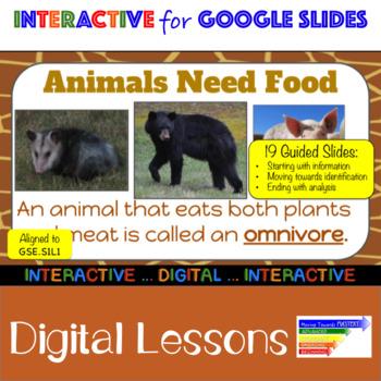 Life Science: Animals Interactive Google Slides