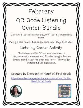 1st Grade Listening Center (February) - QR Codes