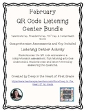 1st Grade Listening Center (February) - QR Codes