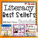 1st Grade Literacy Best Sellers Bundle - Practice, Assessments, and Homework