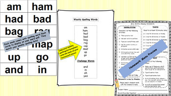 1st Grade Language Arts, Spelling, Math & Homework Mega Bundle - WHOLE YEAR!!!
