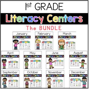 1st Grade Literacy Center BUNDLE