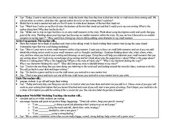 1st Grade Lucy Calkins Small Moment/Narrative Unit 1 Ch.17 Lesson