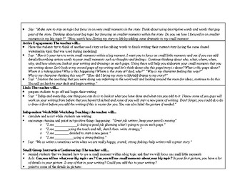 1st Grade Lucy Calkins Small Moment/Narrative Writing Unit 1 CH.18 Lesson