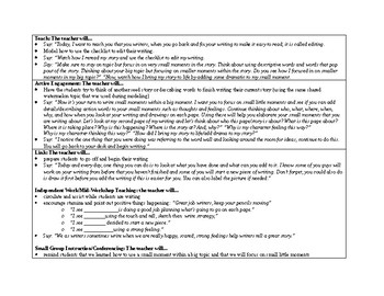 1st Grade Lucy Calkins Small Moment/Narrative Writing Unit 1 ch. 19 Lesson