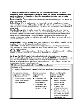 1st Grade Lucy Calkins TC Small Moment/Narrative Writing Unit 1 Ch. 20 Lesson