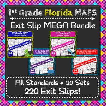 1st Grade MAFS Exit Slips, 1st Grade Math Exit Tickets MEGA Bundle: Florida MAFS
