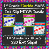 1st Grade Math Exit Slips MEGA Bundle ⭐ Florida MAFS