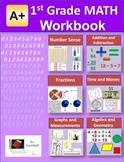 """A+ Math"" 1st Grade Math Workbook (Worksheets, Exams and Answer Keys))"
