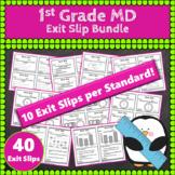 1st Grade MD Exit Slips: Measurement & Data Exit Slips 1st Grade