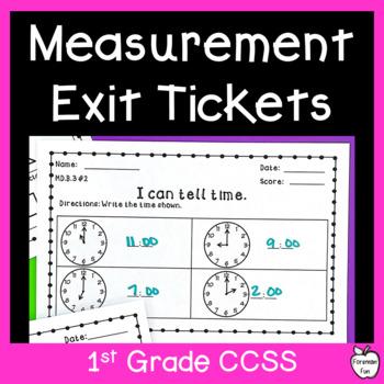 Measurement & Data Assessment Pack ~ 1st Grade MD Standards ~ Exit Slips