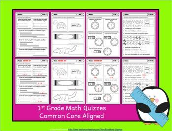 1st Grade MD Quizzes: 1st Grade Math Quizzes, Measurement & Data