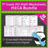 1st Grade MD Worksheets: 1st Grade Math Worksheets, Measurement & Data