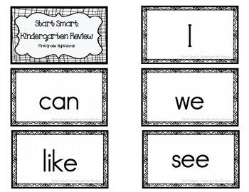 1st Grade MacMillan McGraw-Hill Sight Word Flash Cards & Progress Monitoring