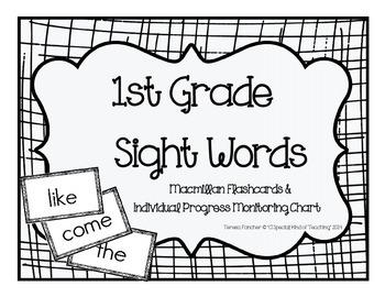 1st Grade MacMillan McGraw-Hill Sight Word Flash Cards & P