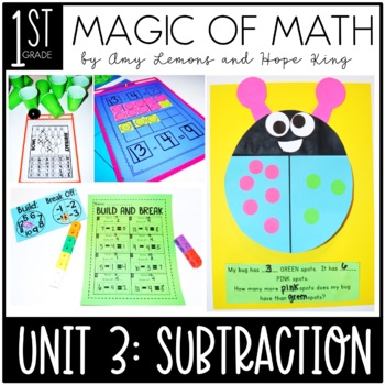 1st Grade Magic of Math Unit 3:  Subtraction