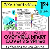 1st Grade Magic of Math:  Year Overview, Binder Covers, an