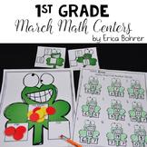 1st Grade March Math Centers
