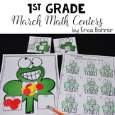 1st Grade March Math Centers
