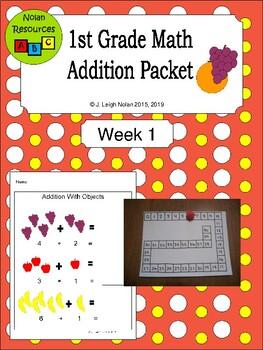 FREEBIE - Basic Addition Packet - Week 1
