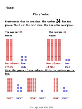 Basic Addition & Place Value Packet - Week 4