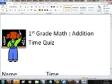1st Grade Math : Addition Worksheet