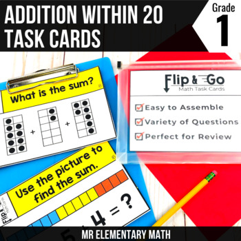 Addition within 20 - 1st Grade Math Flip and Go Cards