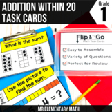 Addition within 20 Task Cards 1st Grade Math Centers