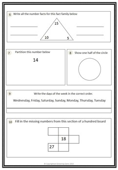 Common Core 1st Grade Math Assessment