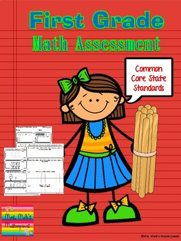 1st Grade Math Assessment with Common Core State Standards